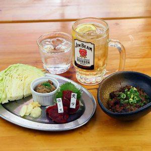 赤坂の焼き肉居酒屋・桜屋 馬力キング 赤坂店の新鮮な馬刺し